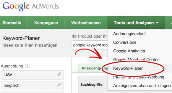 Neues Google Keyword-Planer Tool